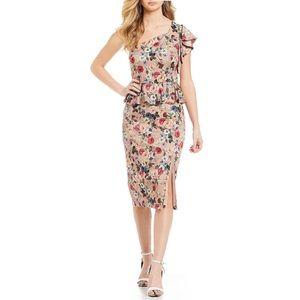 NWT Gianni Bini Danielle Floral Peplum Dress Sz 8